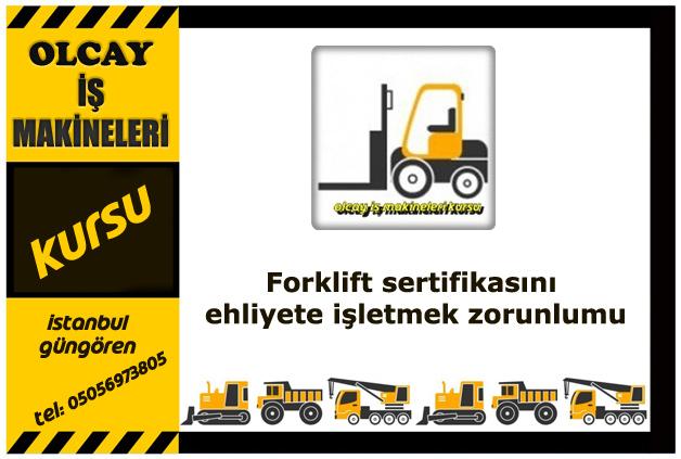 Forklift sertifikasını ehliyete işletmek zorunlumu